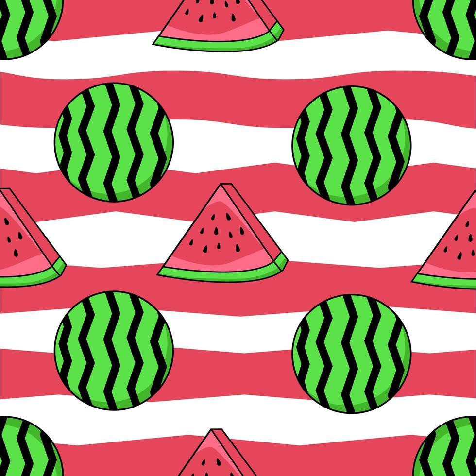 mönster av vattenmelonfrukter vektor