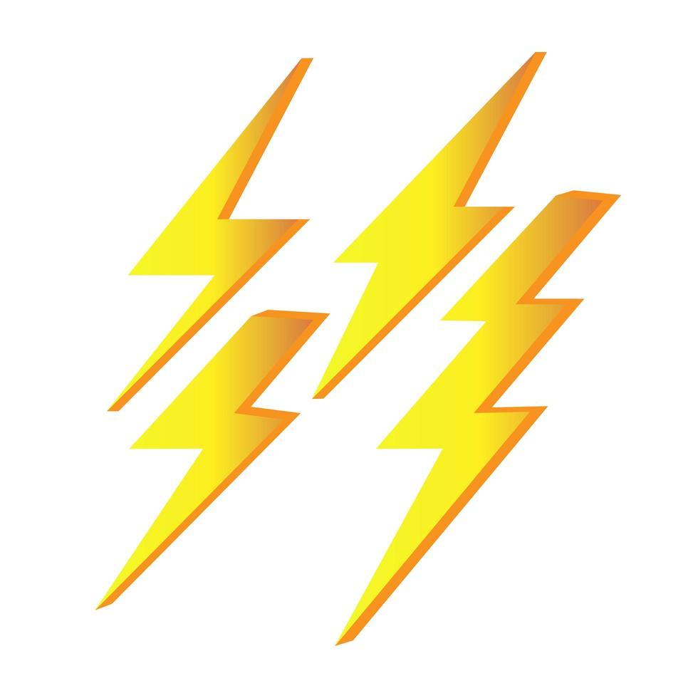 åska, kraft, energisättning vektor