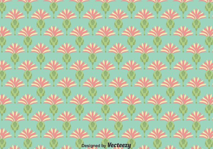 Flat Thistle Blumen Nahtlose Hintergrund vektor
