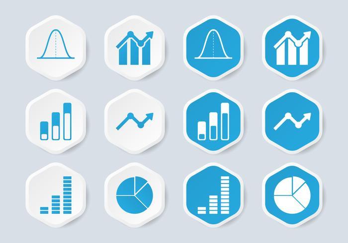Bellkurva infografiska ikonen vektor