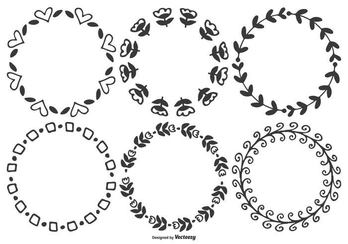 Nette Handgezeichnete Vektorrahmen vektor