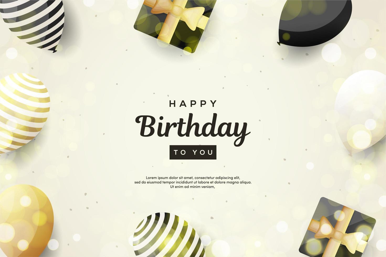 bakgrund för en födelsedag vektor