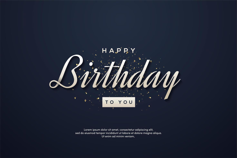 bakgrund elegant födelsedag med vit skrift vektor