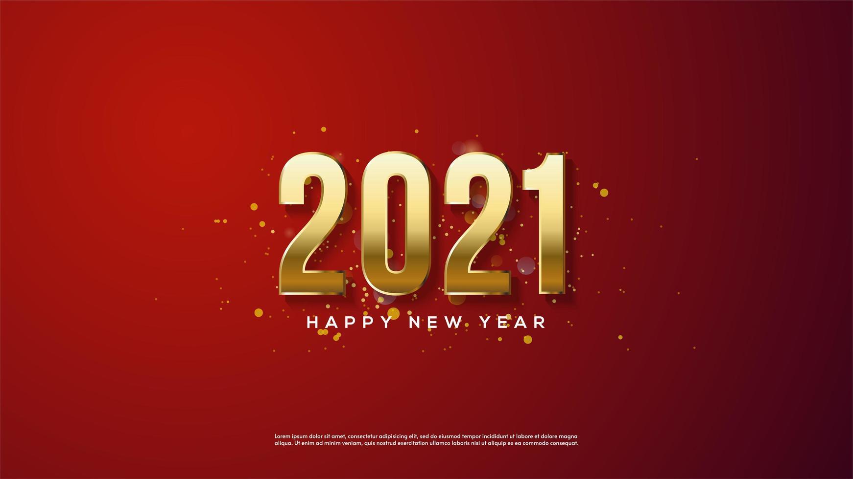 bakgrund 2021 av 3d-guld vektor