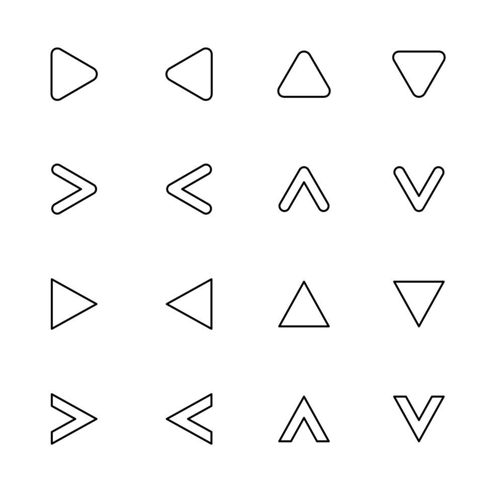beskrivna piluppsättning vektor