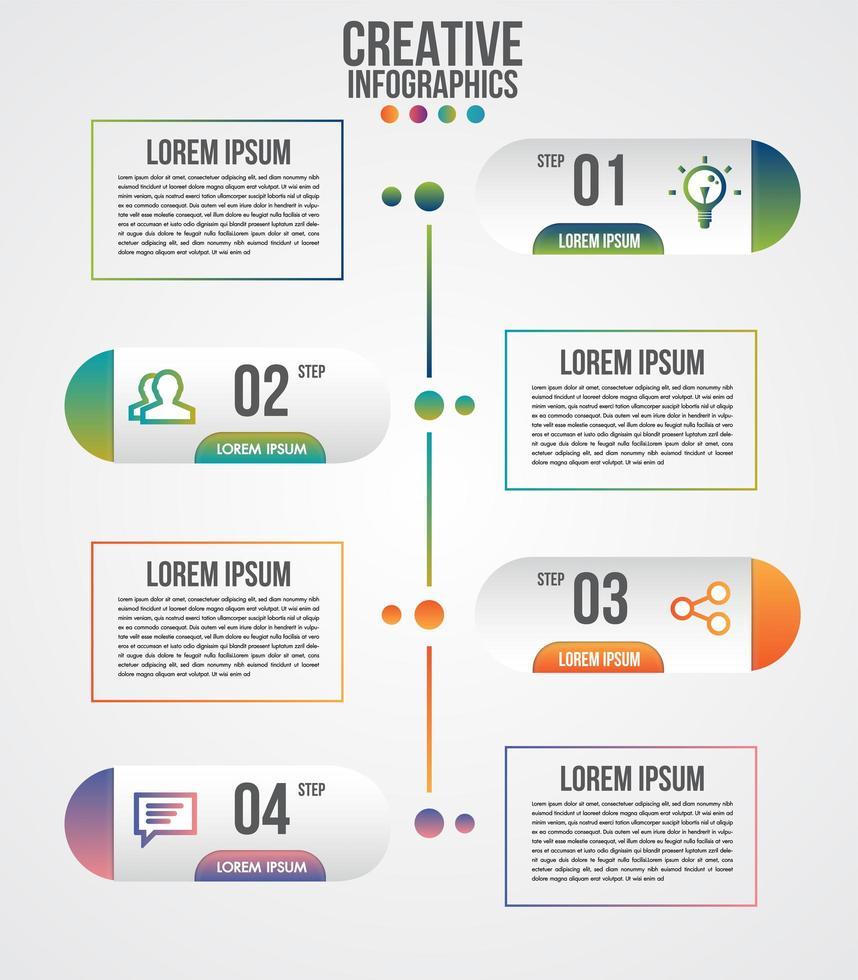 kapselform och textruta infographic mall vektor