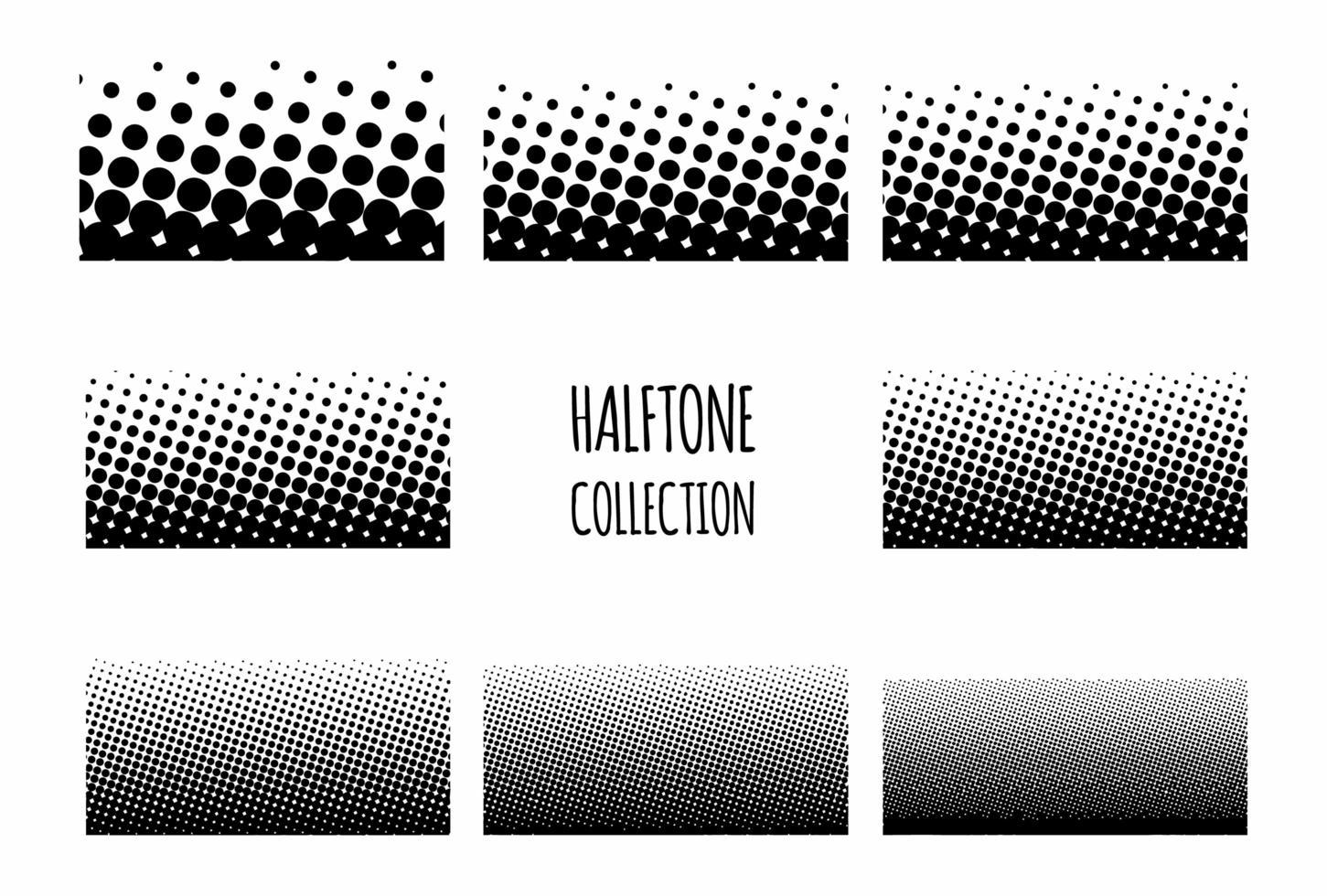 Halbtonmuster-Sammlung mit Farbverlauf vektor