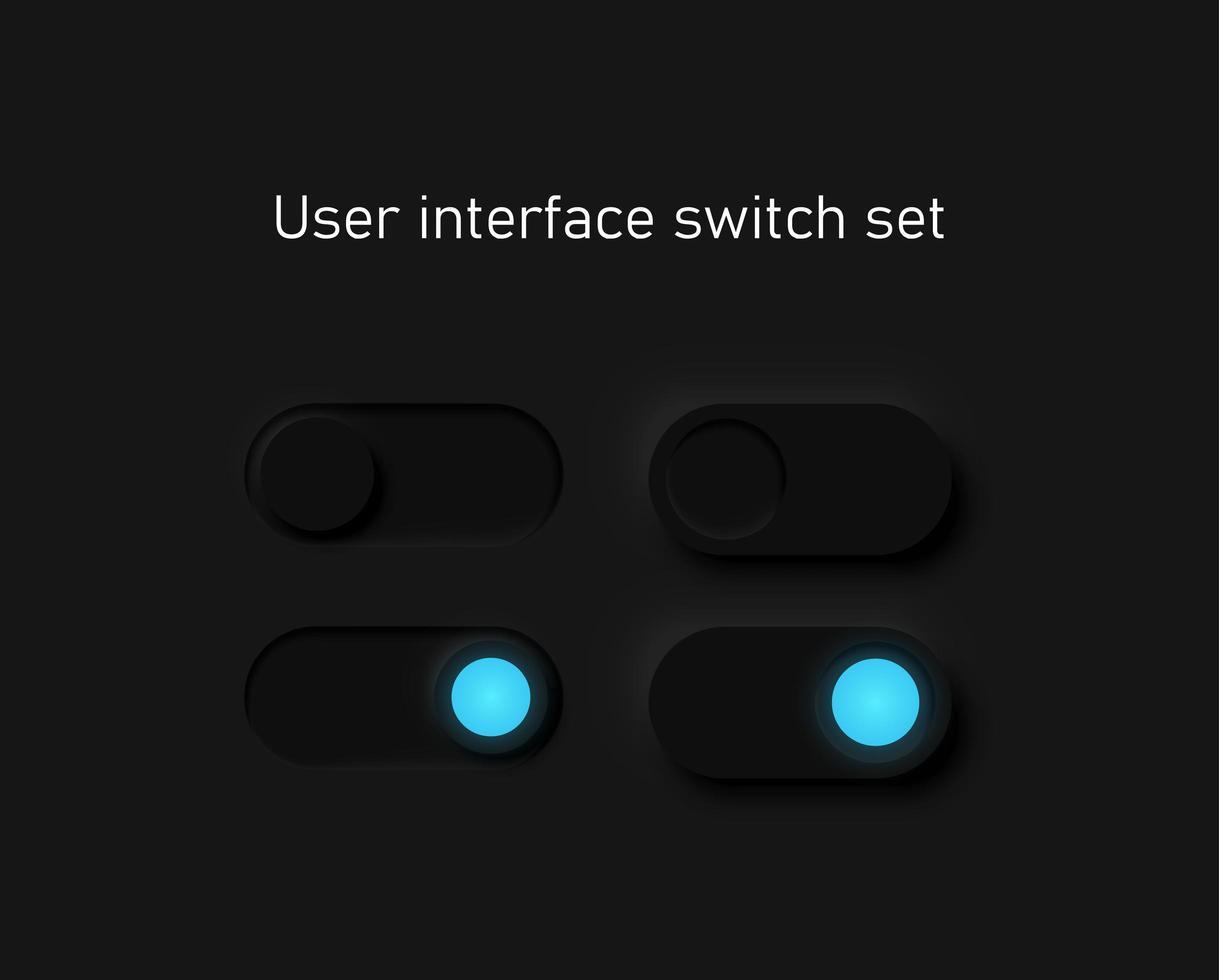 schwarze Schalter für Websites vektor