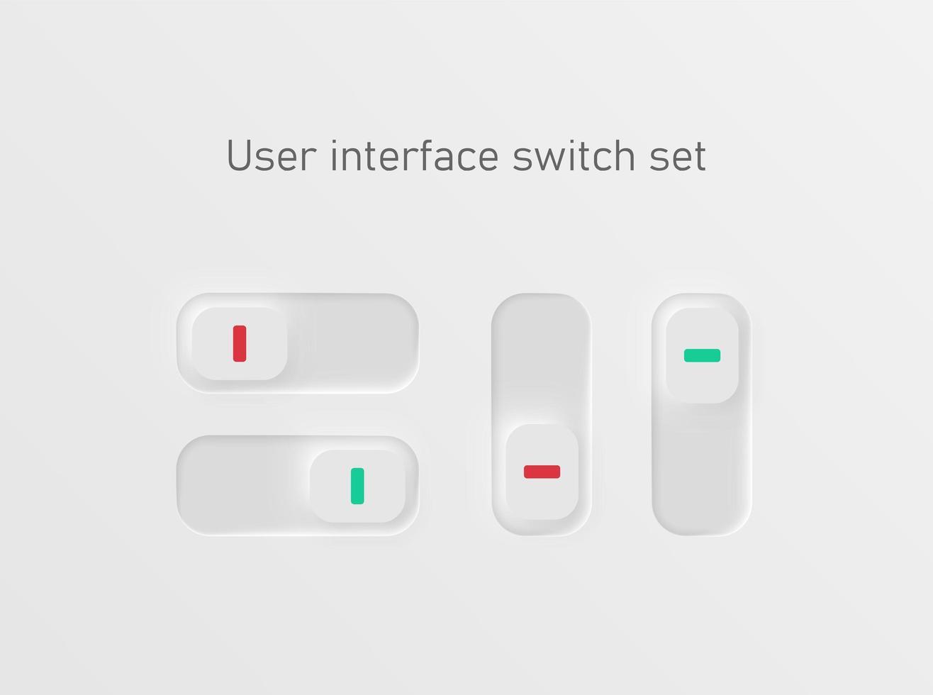 Schalter für Benutzeroberflächen vektor