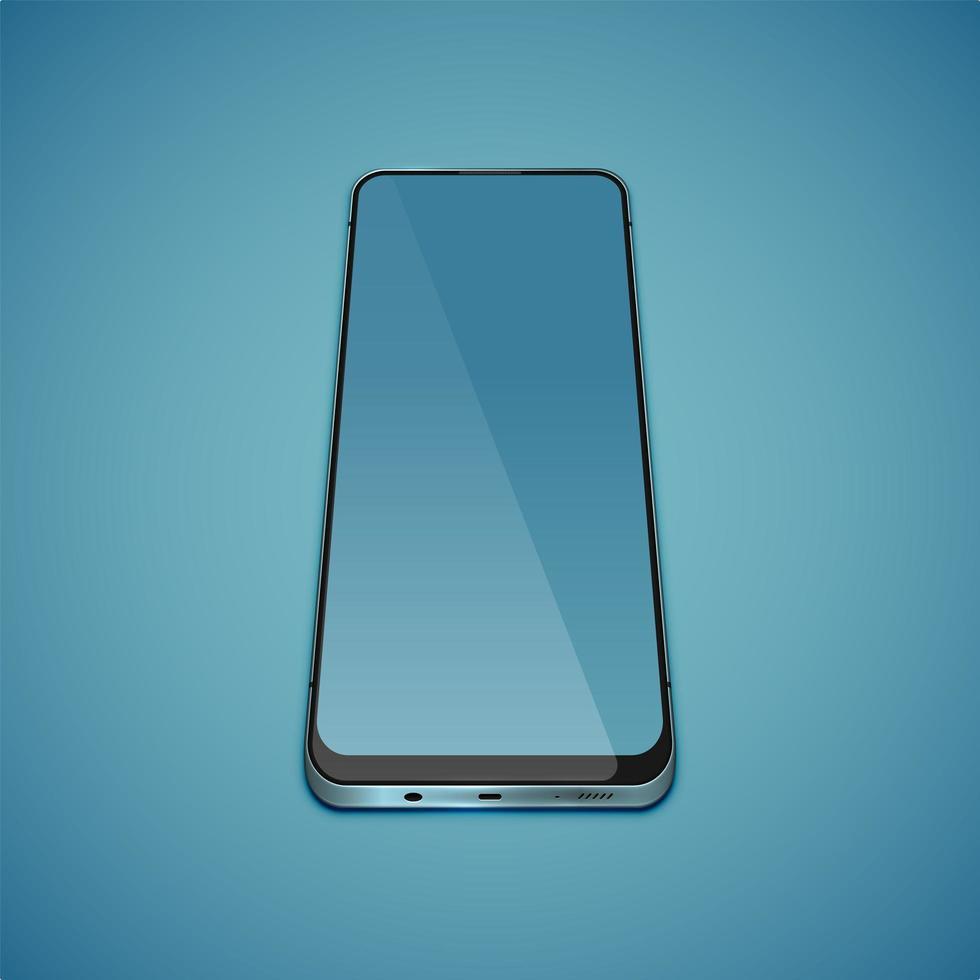 realistisches, detailreiches Smartphone vektor