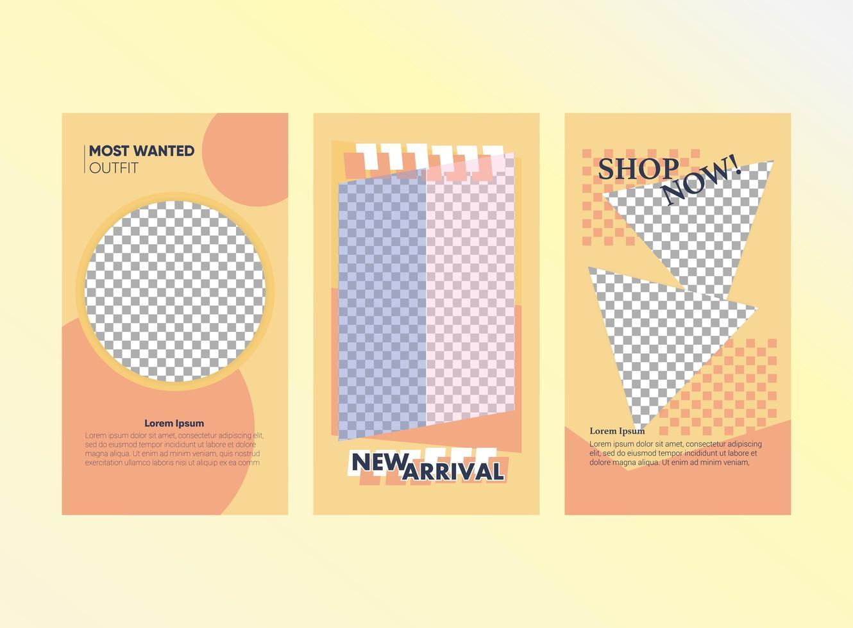 mode försäljning sociala medier berättelse vektor