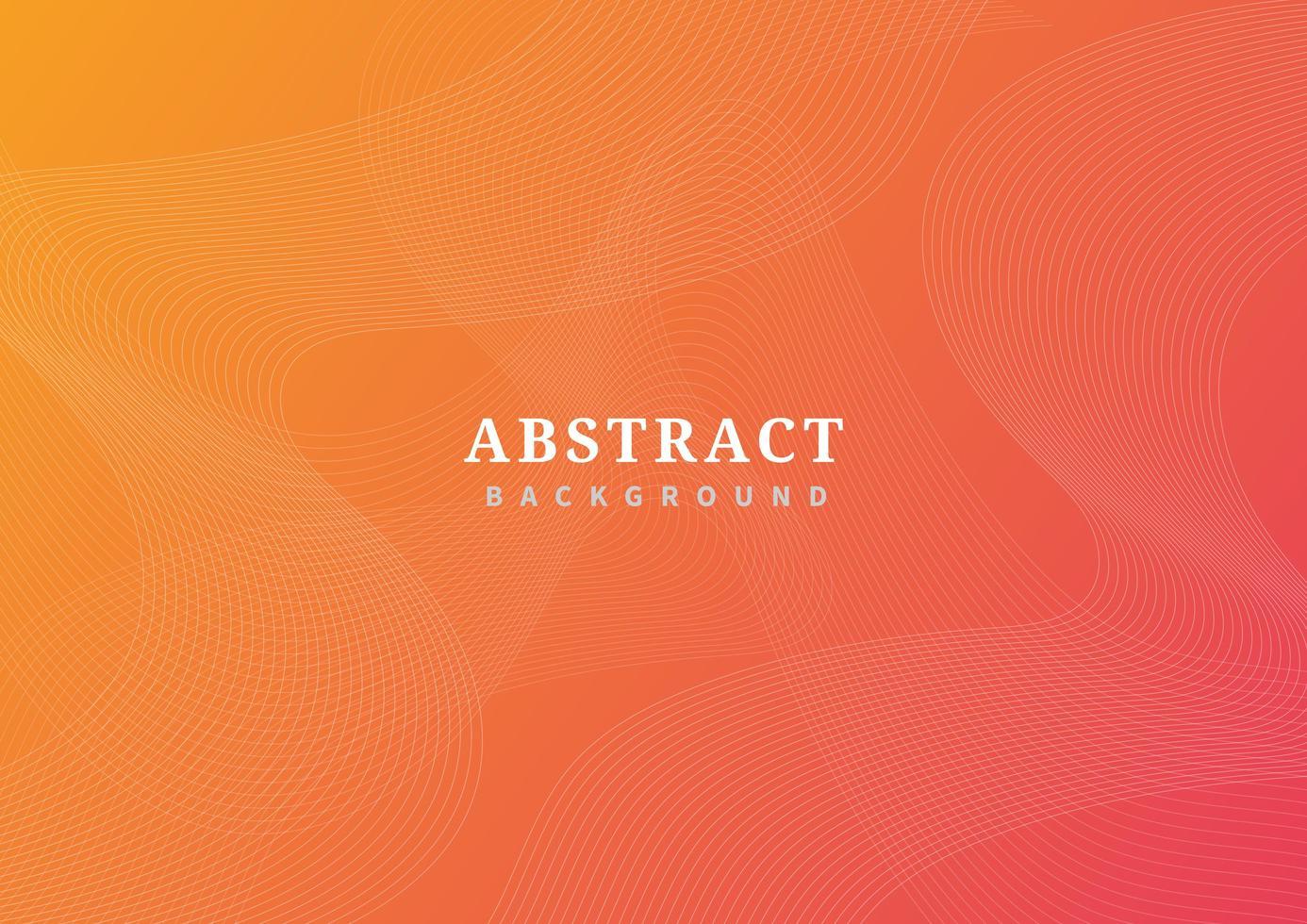 abstraktes Wellenlinienmuster auf orange Gradient vektor