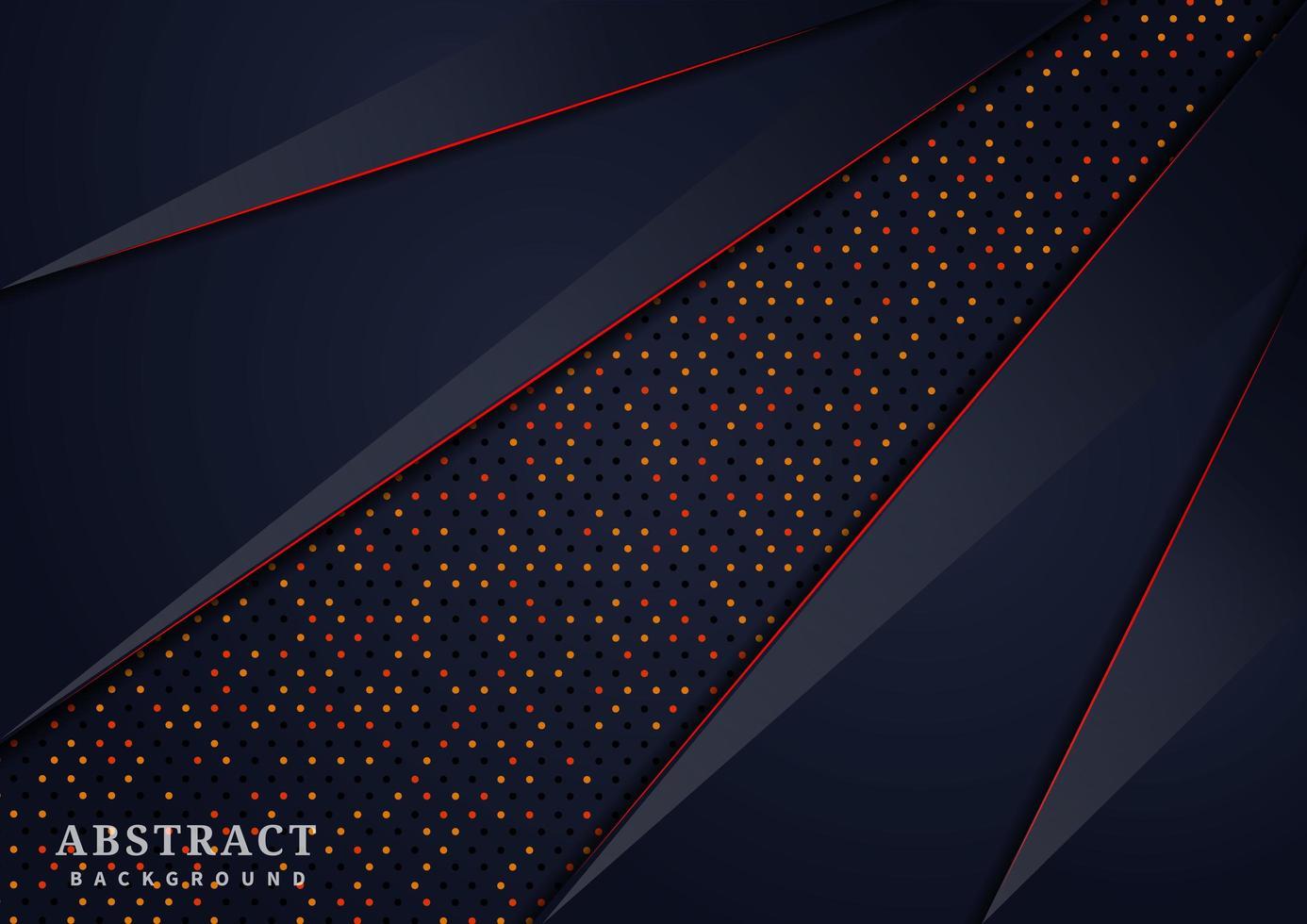 abstrakt mörkblå glitter överlappande lager vektor