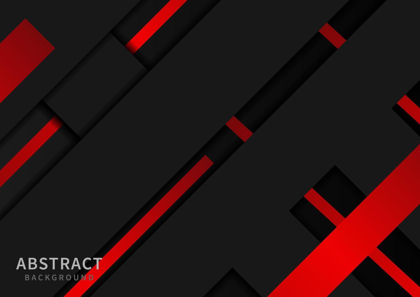 abstraktes Design mit roten und schwarzen diagonalen Formen vektor
