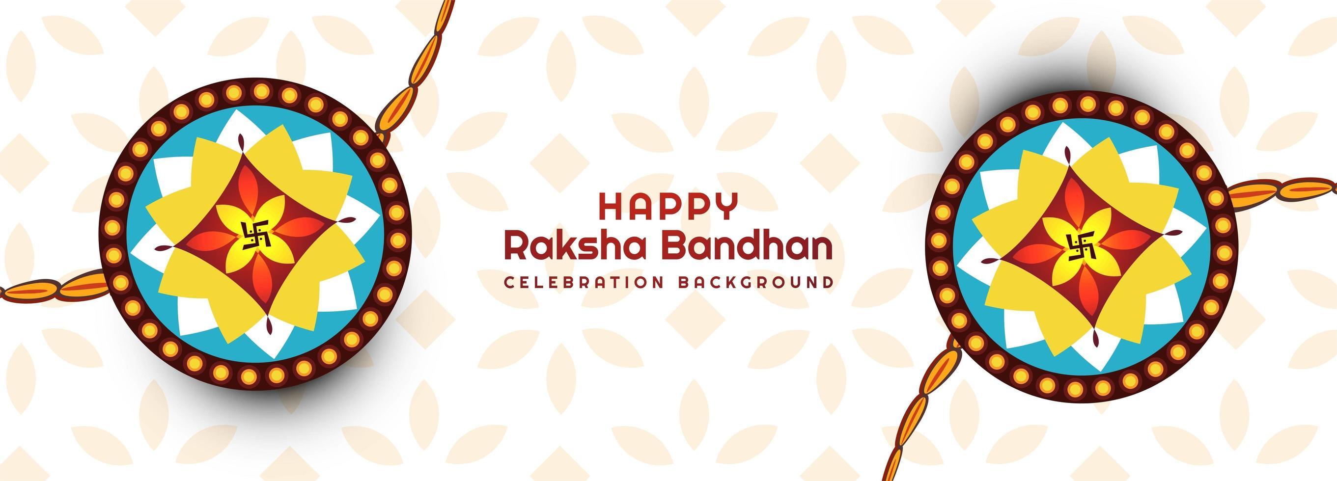 dekorerad rakhi för raksha bandhan banner vektor