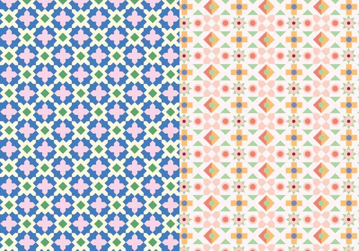 Dekoratives Mosaikmuster vektor