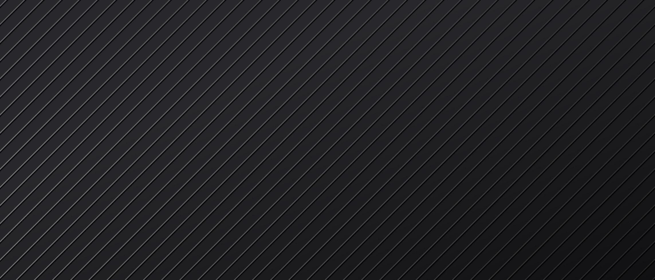 schwarzer abstrakter Hintergrund mit diagonalen parallelen Linien vektor