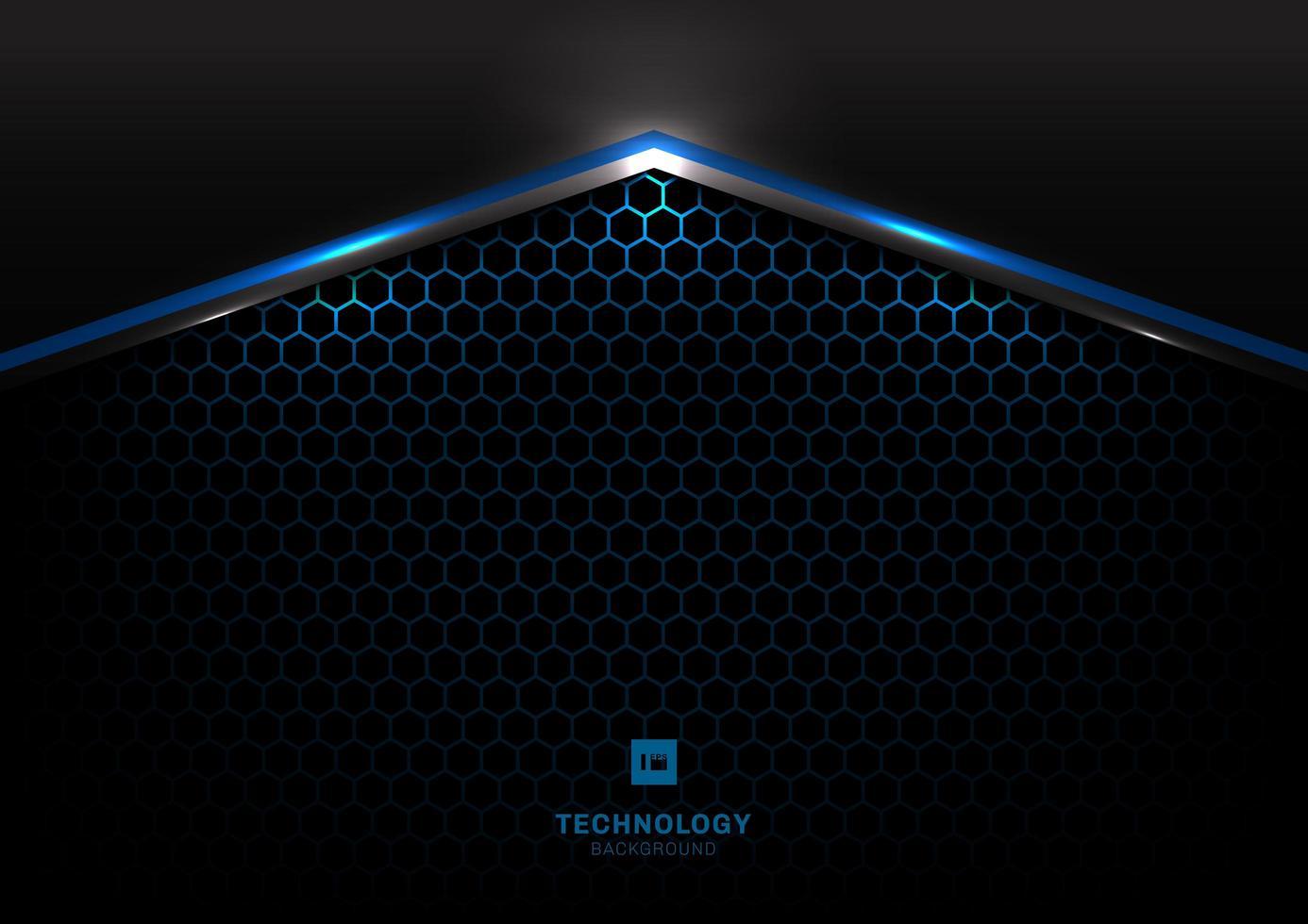 teknik futuristisk svart och grå metallic vektor