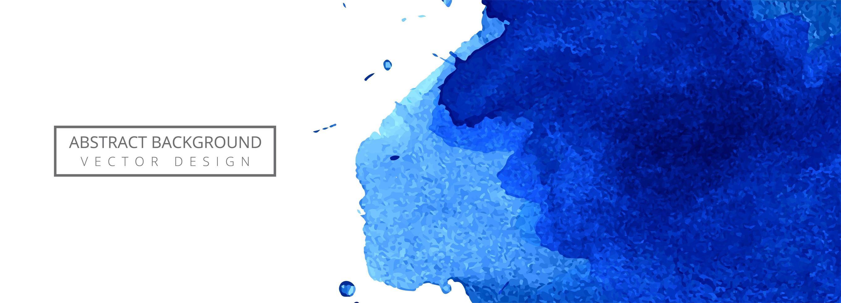 abstrakter blauer Aquarell-Spritzfahnenhintergrund vektor