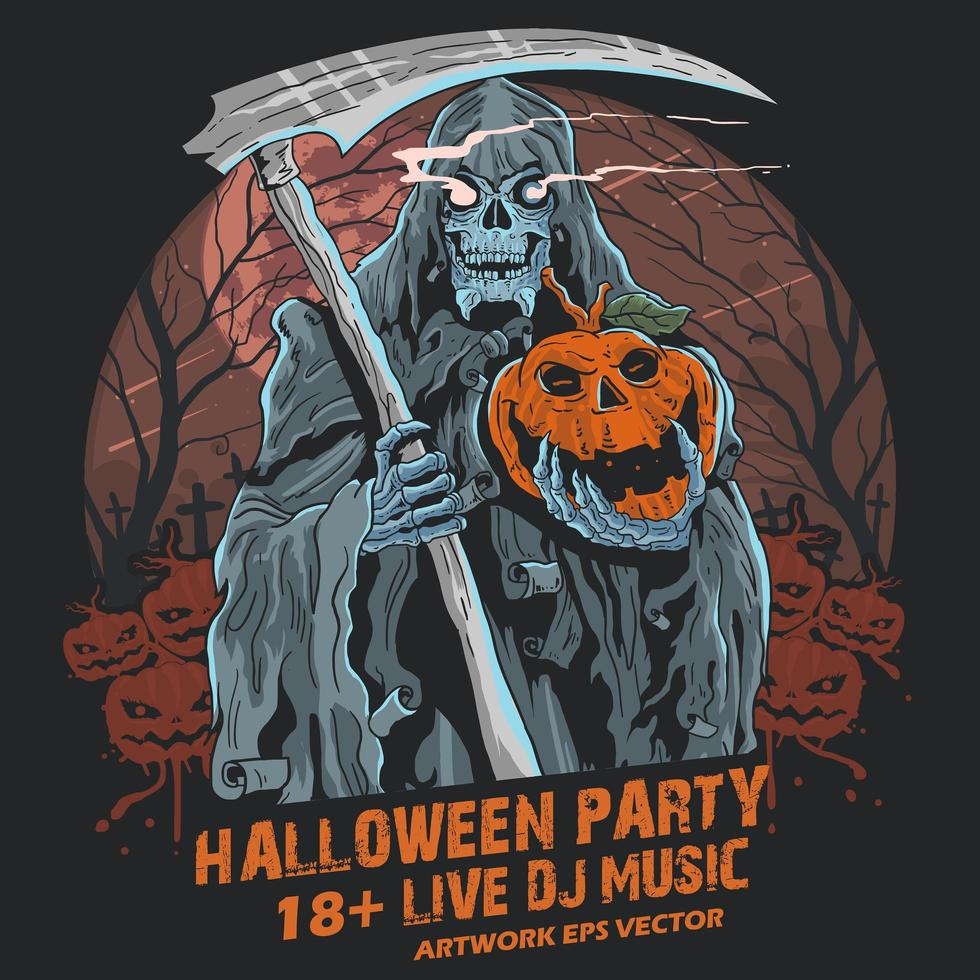 Sensenmann Halloween vektor