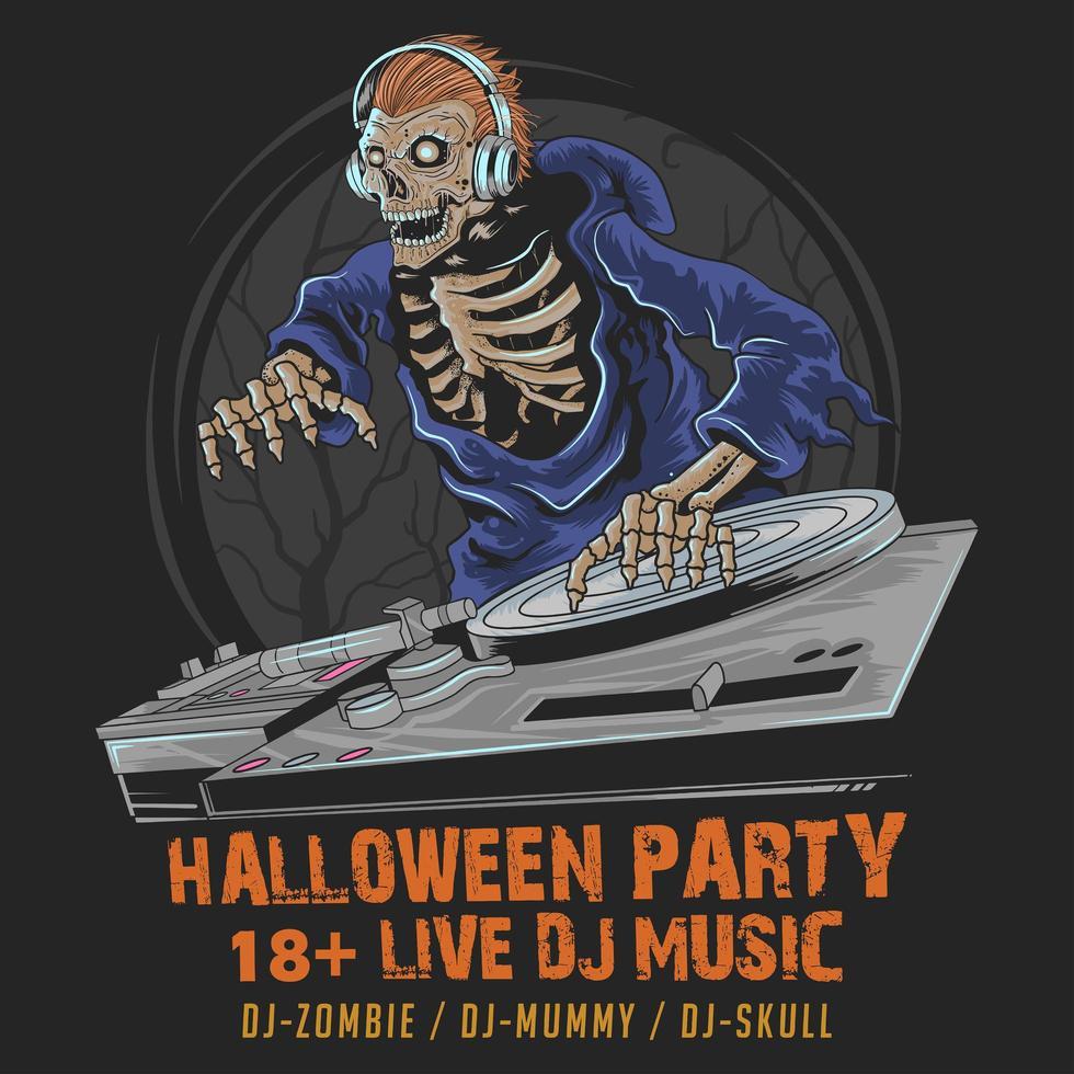 Halloween Schädel Party vektor