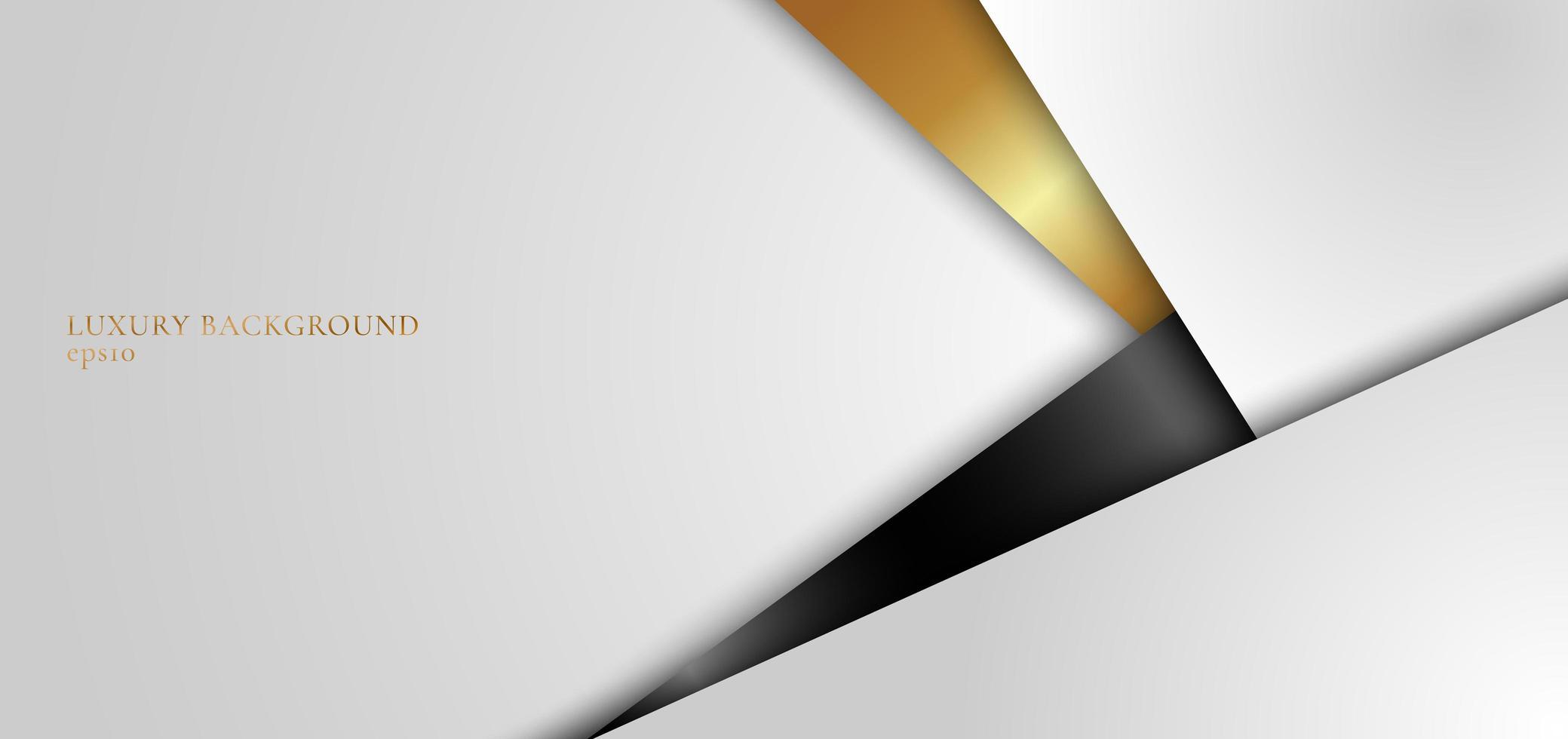 elegant vit, svart och guld geometrisk triangel vektor