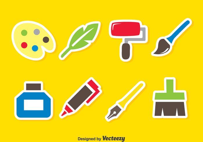Farbe Werkzeuge Vektor Set