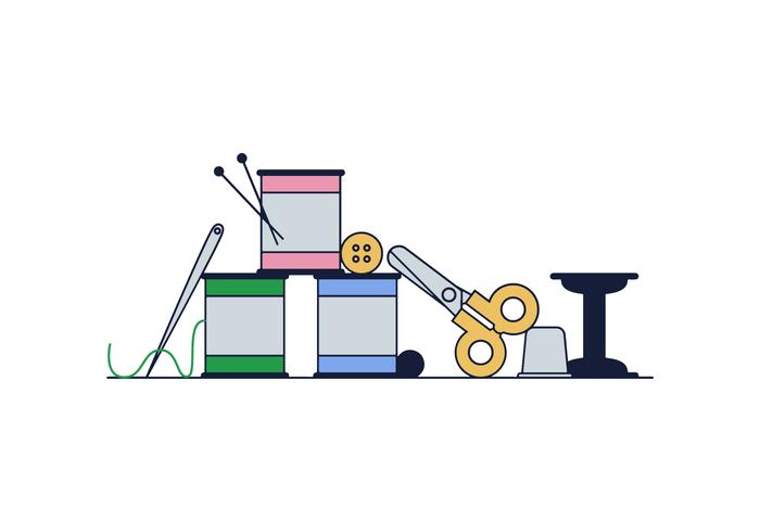 Free Sewing Kit Vektor