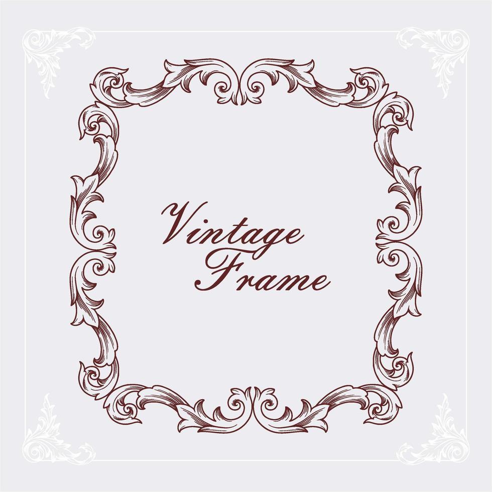 vintage ram graverade vektor