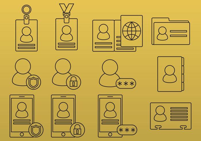 ID-Symbole vektor