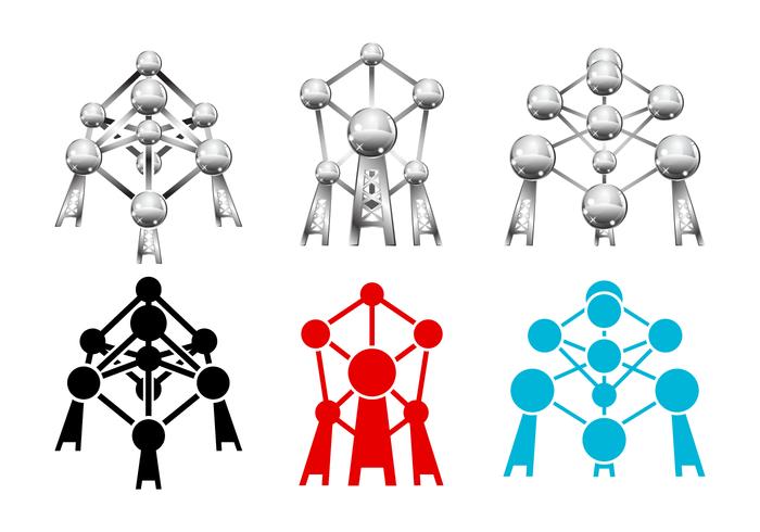Freier Atomium-Vektor vektor