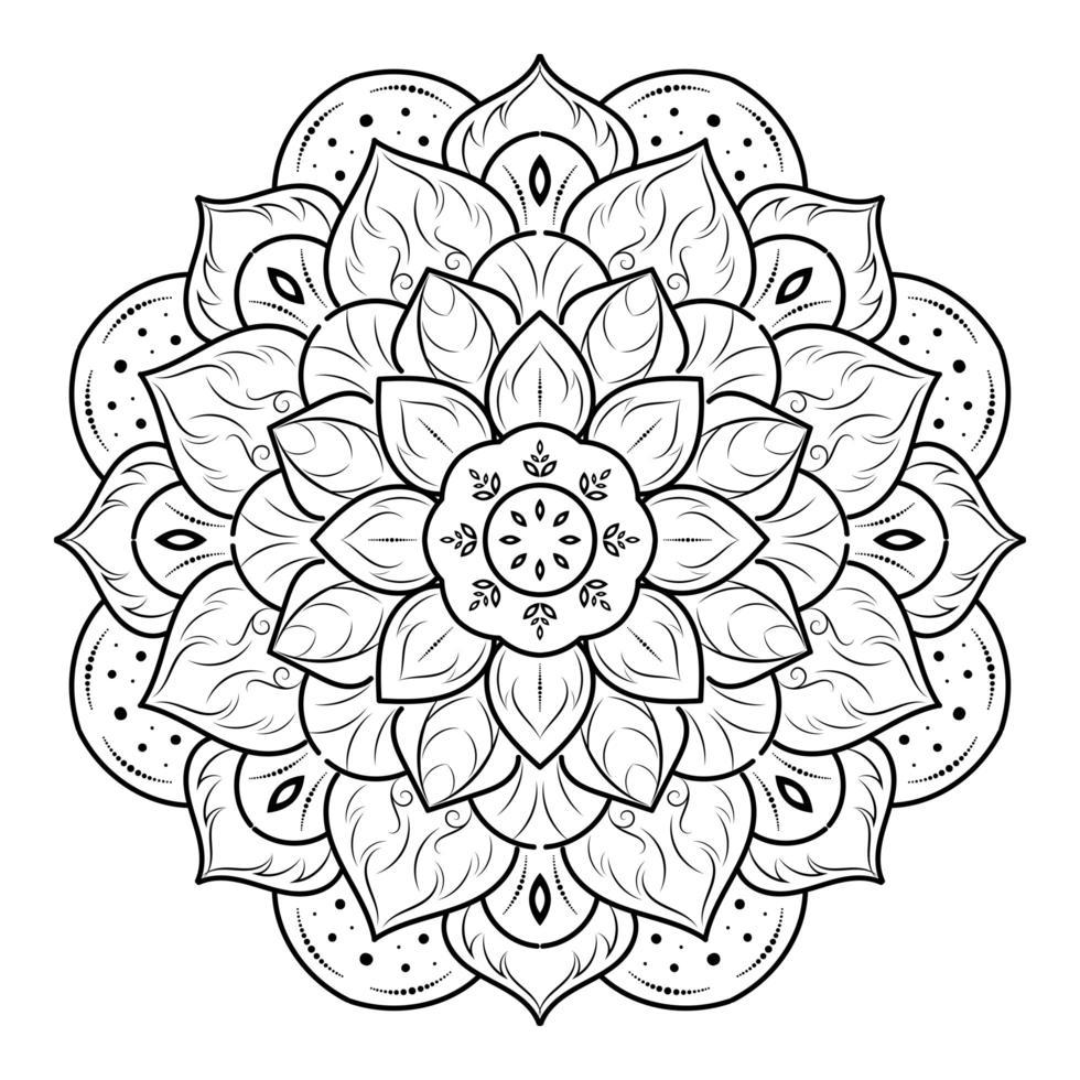 skiktade blommor blommig mandala vektor