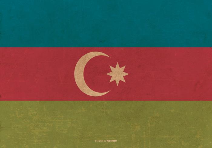 Grunge Flagga av Azerbajdzjan vektor
