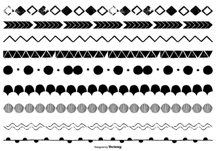 Handgezeichnete Vektorgrenzen vektor