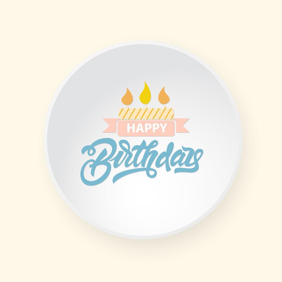 Alles Gute zum Geburtstag auf einem Teller vektor