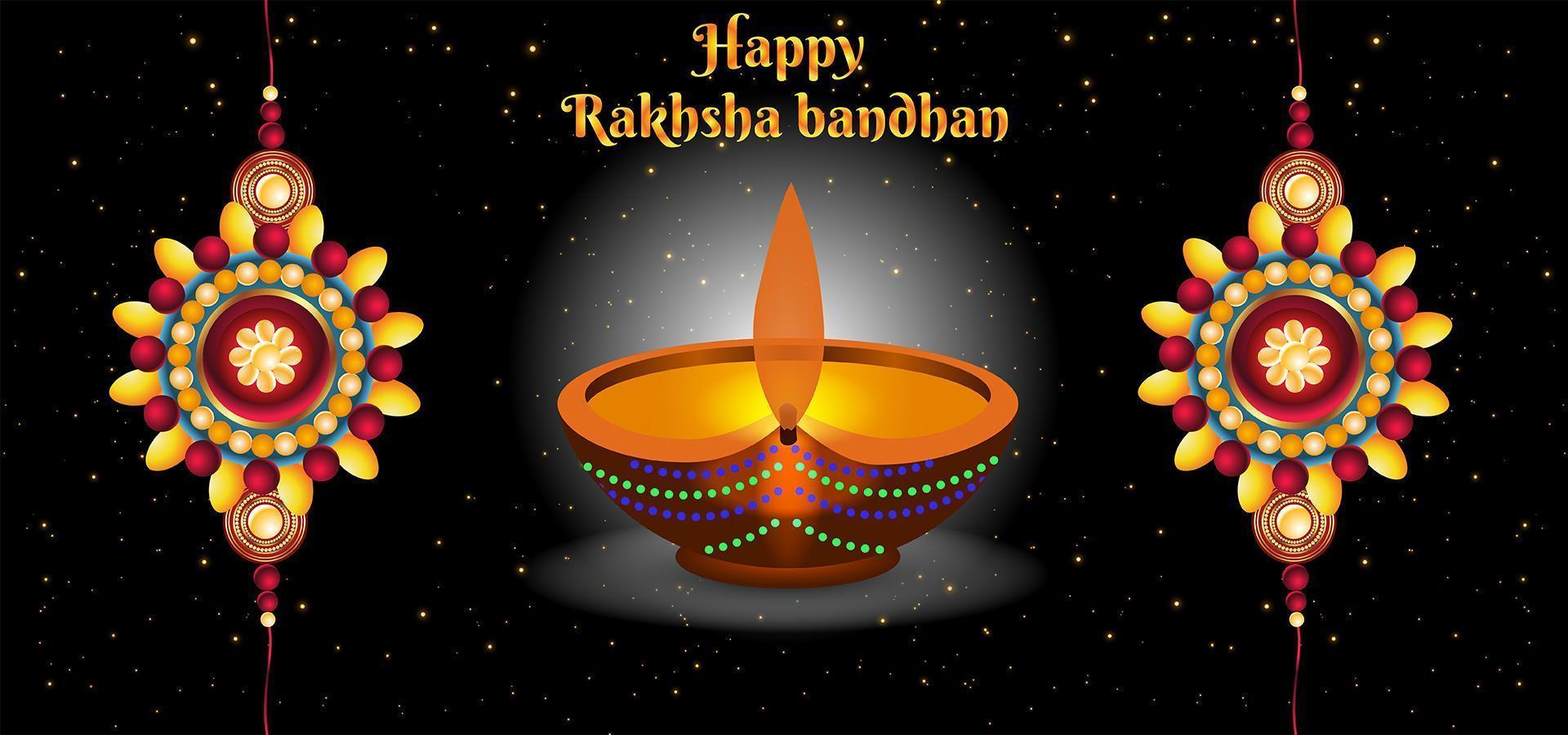 glad raksha bandhan firandet abstrakt bakgrund vektor