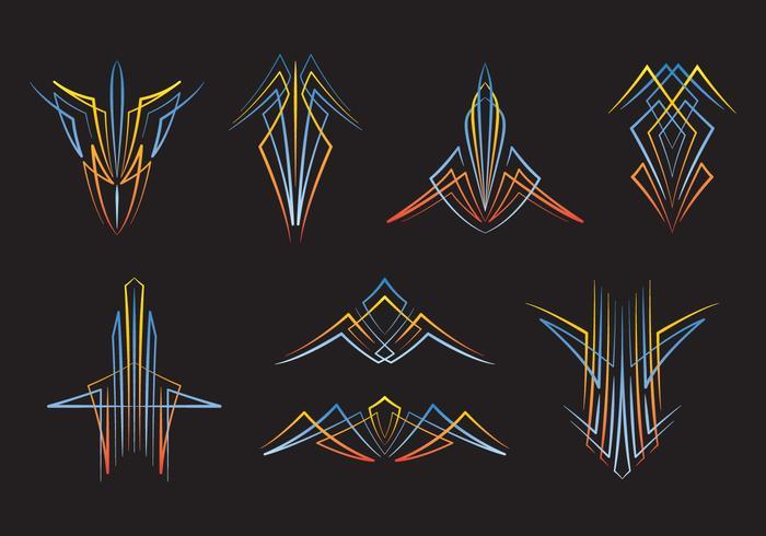Hotrod pinstripes vektor