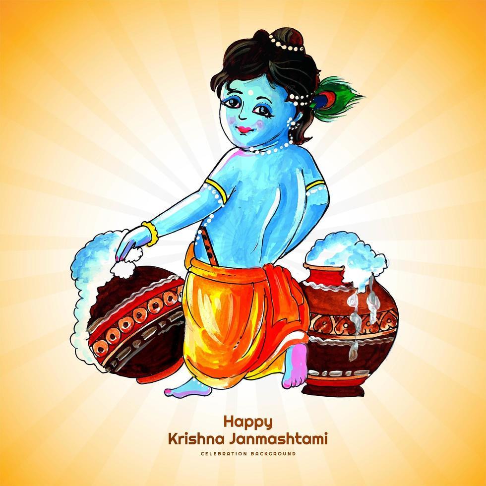 indisk festival för janmashtami-firandet vektor