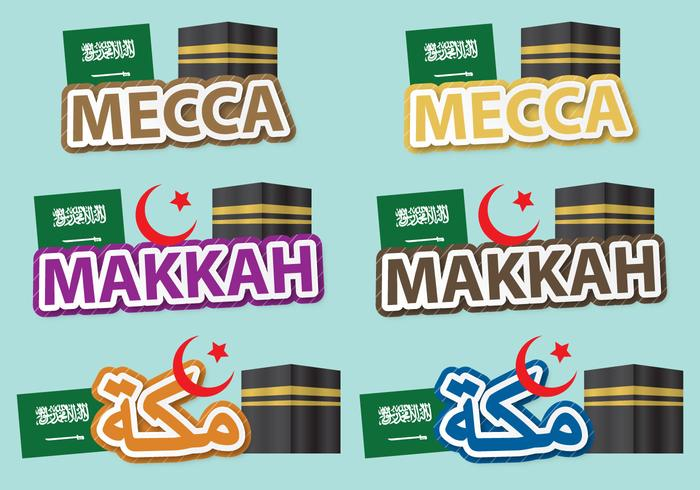 Mekka-Titel vektor