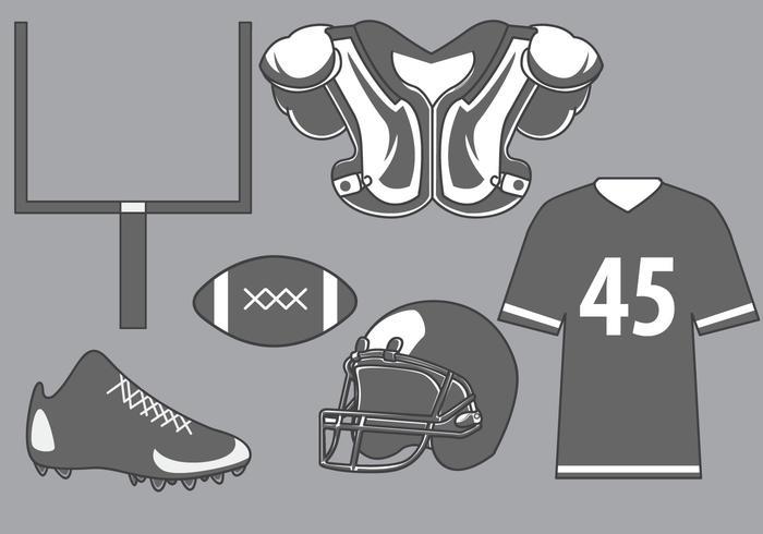 Fußball Ausrüstung Vektor