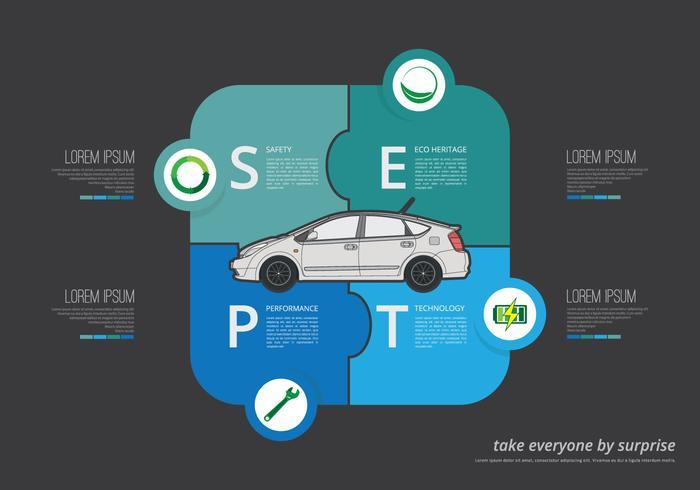 Prius Infografische Illustration vektor