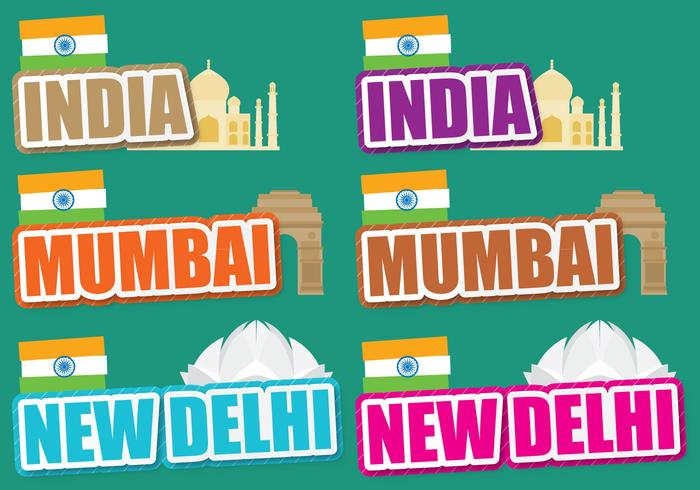 Indien titlar vektor