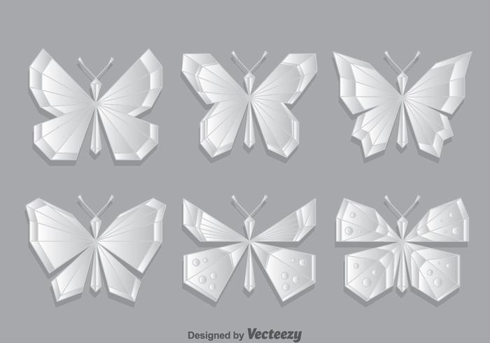 Geometrische Schmetterlings-Vektor-Set vektor
