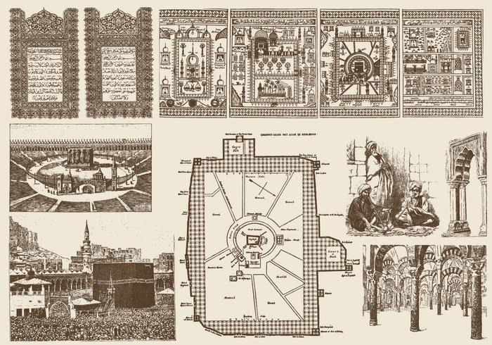 Islamiska element vektor
