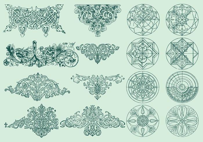 Linje ornament vektor