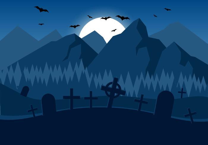Kostenlose Spooky Vector Halloween Night