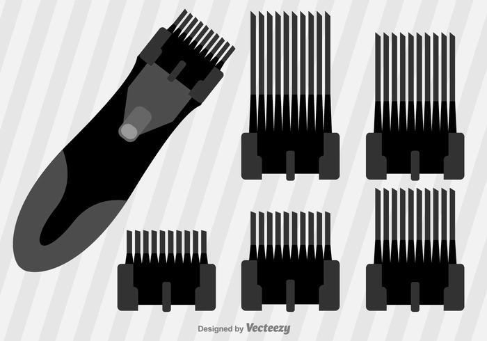Flache Haarschneider Vector Icons