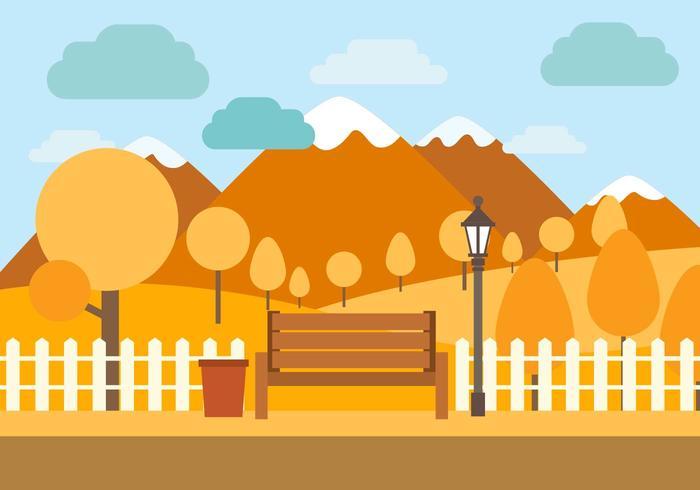 Gratis vektor hösten illustration