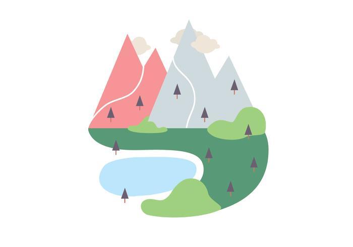 Landskap Vektor Illustration