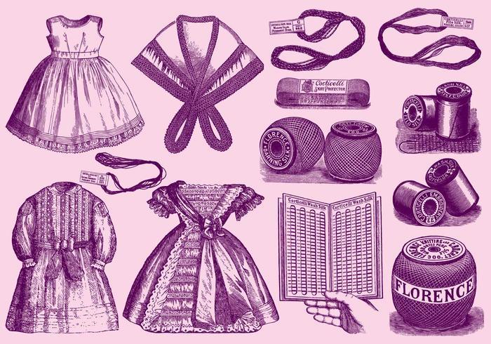 Vintage Lace Material och applikationer vektor